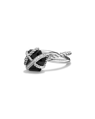 Image 1 of 4: Cable Wrap Ring with Diamonds