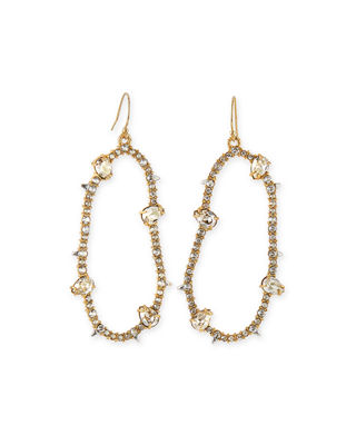 Alexis Bittar Large Oval Pav?? Wire Drop Earrings