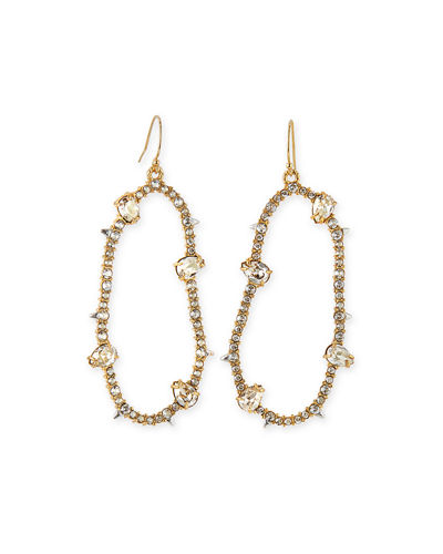 Alexis Bittar Large Oval Pavé Wire Drop Earrings