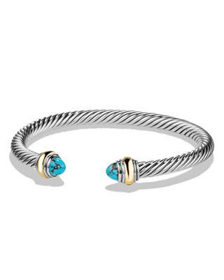 Cable Bullet Cabochon Bracelet, 5mm