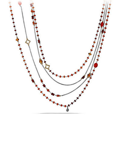 Spring Bead Layering Necklace, 82""