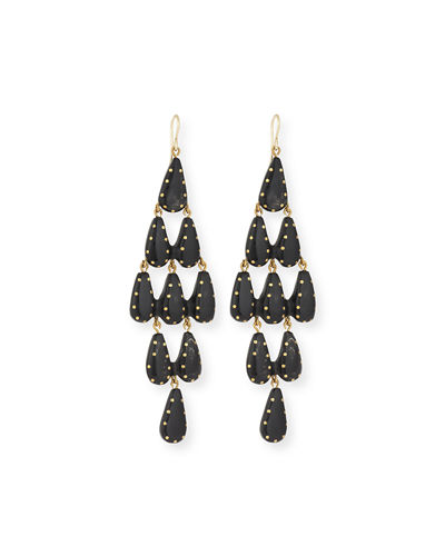Densi Chandelier Horn Earrings