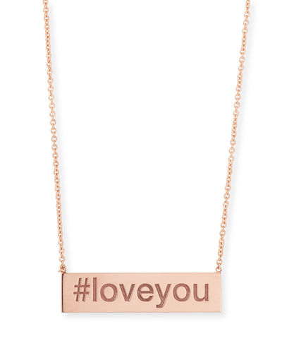 Zoe Chicco Personalized Hashtag Bar Necklace