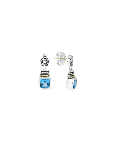 Lagos 7mm Glacier Caviar Drop Earrings