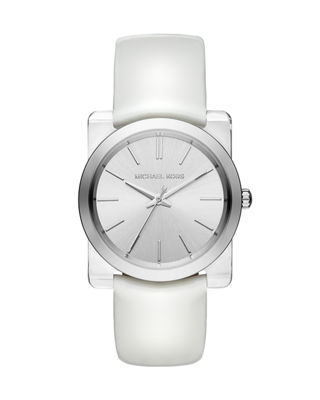 Michael Kors 35mm Kempton Leather Strap Watch