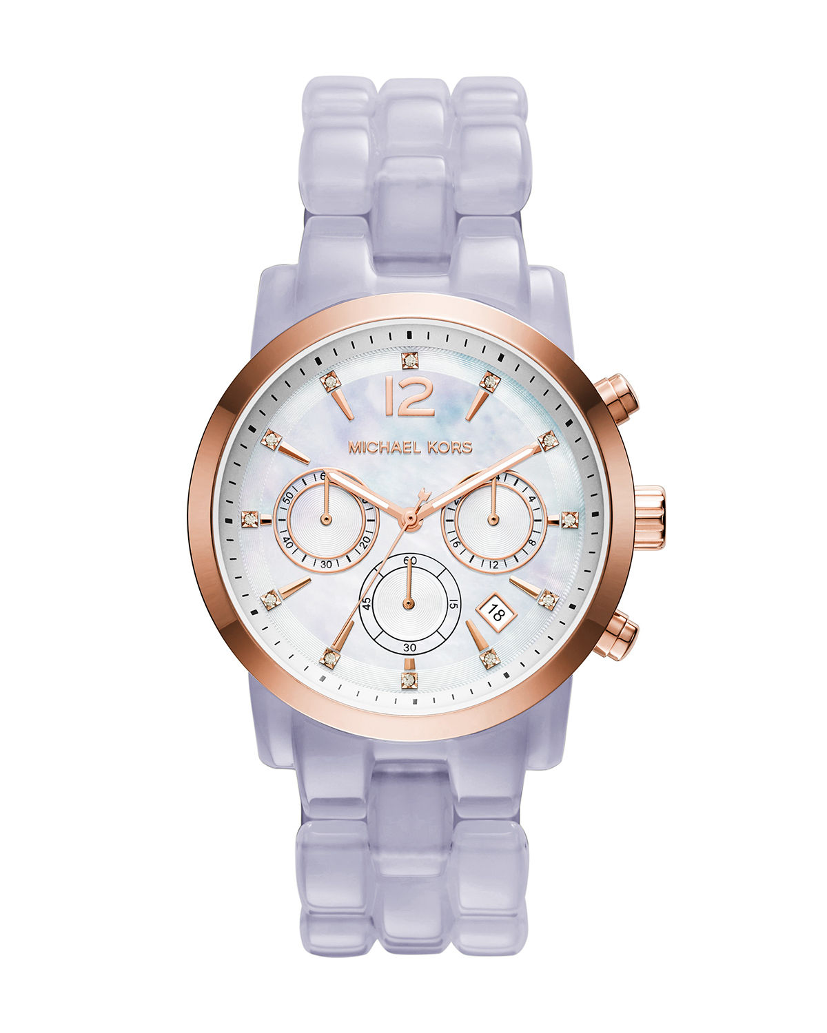 Audrina Acetate Bracelet Strap Chronograph Watch