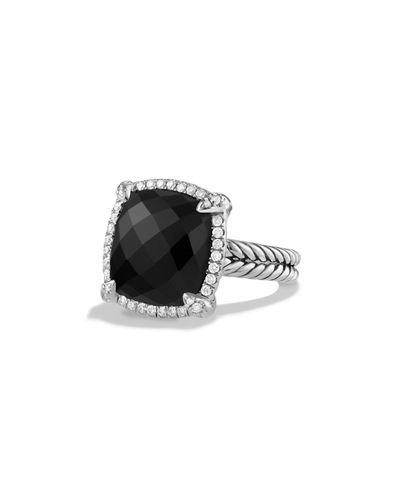 David Yurman 14mm Châtelaine Ring with Diamonds