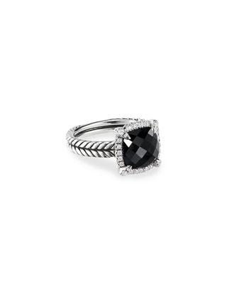 David Yurman 9mm Ch??telaine Ring with Diamonds