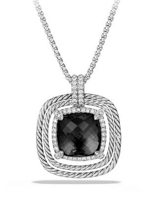 David Yurman 24mm Ch??telaine?? Spiraled Bezel Necklace with