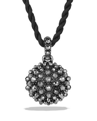 David Yurman 20mm Osetra Faceted Hematine Pendant Necklace,