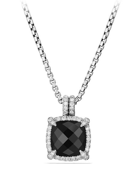 Image 1 of 5: David Yurman 9mm Châtelaine® Bezel Necklace with Diamonds