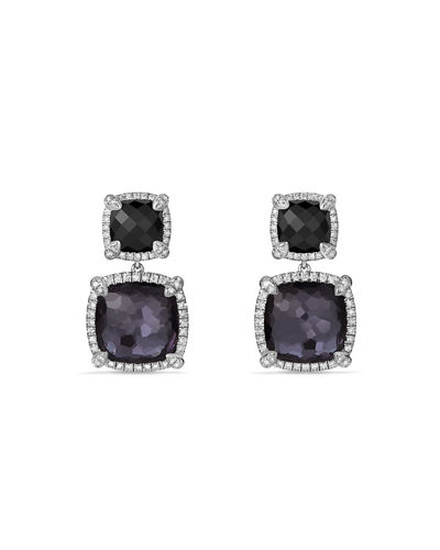 Châtelaine Double-Drop Earrings with Diamonds
