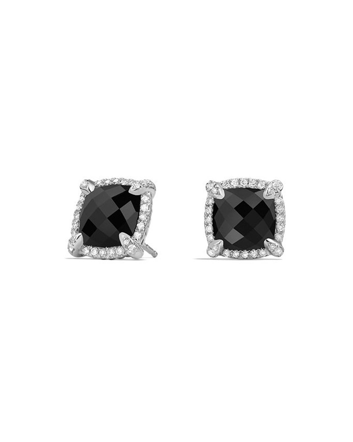 9mm Chatelaine Stud Earrings with Diamonds