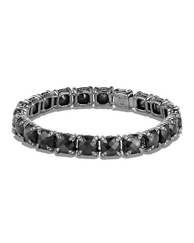 David Yurman 7mm Linear Faceted Bracelet with Diamond