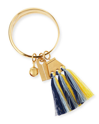 Image 1 of 3: Janis Fringe Bangle Charm Bracelet