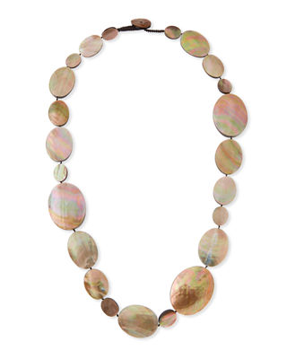 Viktoria Hayman Long Shell Disc Necklace, 44