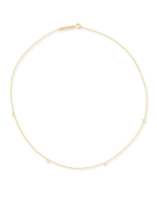 14K Scattered LOVE Station Necklace