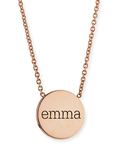Zoe chicco personalized disc pendant necklace aloadofball Choice Image