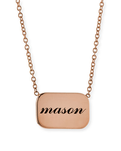 Zoe Chicco 14k Personalized Name Plate Pendant Necklace