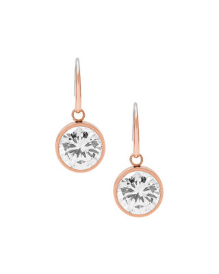 Michael Kors Crystal Bezel Drop Earrings