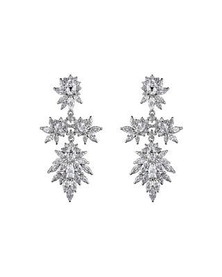 Fallon Crystal Cluster Marquis Statement Earrings