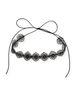 Scalloped Crystal Lace Choker Necklace