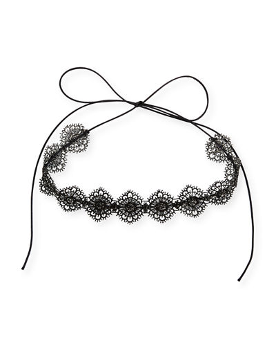 Fallon Scalloped Crystal Lace Choker Necklace