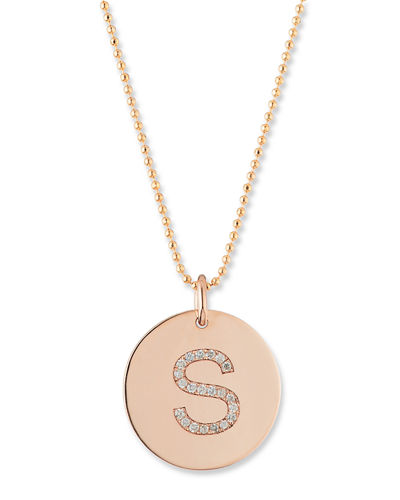 Zoe chicco initial coin pendant necklace aloadofball Choice Image
