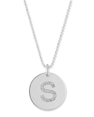 Initial Coin Pendant Necklace