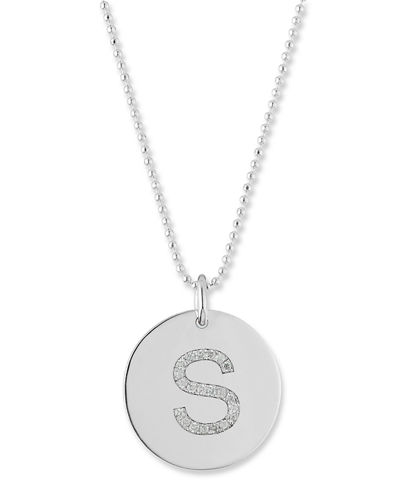 14k Initial Coin Pendant Necklace