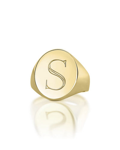 Monogrammed Pinky Signet Ring