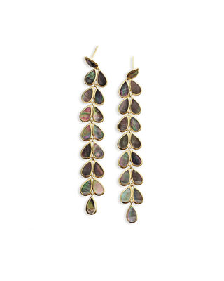 Polished 18K Rock Candy Drop Earrings in Onyx