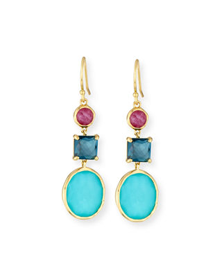 Ippolita 18K Rock Candy 3-Stone Drop Earrings in