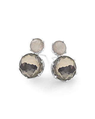 Ippolita 18K Rock Candy Two-Stone Earrings, White