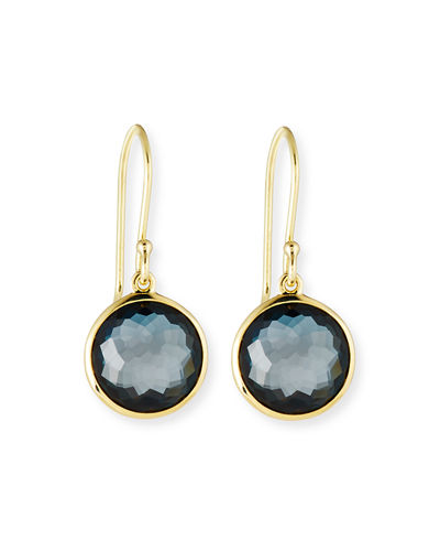 18k Gold Rock Candy Mini Lollipop Earrings