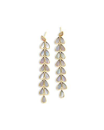 18K Polished Rock Candy Drop Earrings
