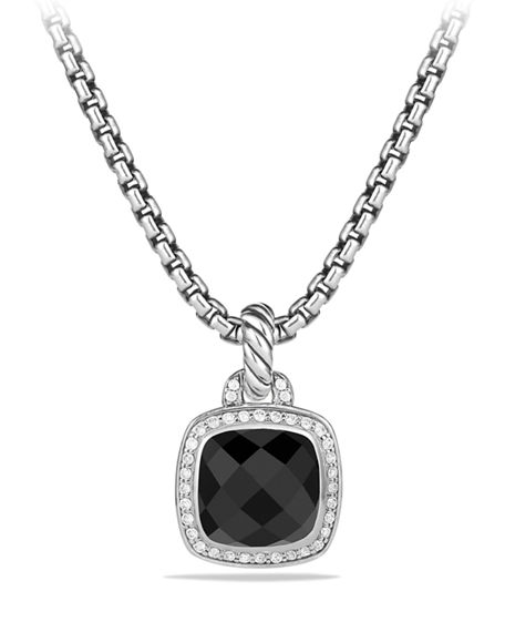 Image 1 of 4: David Yurman Albion Stone Pendant with Diamonds