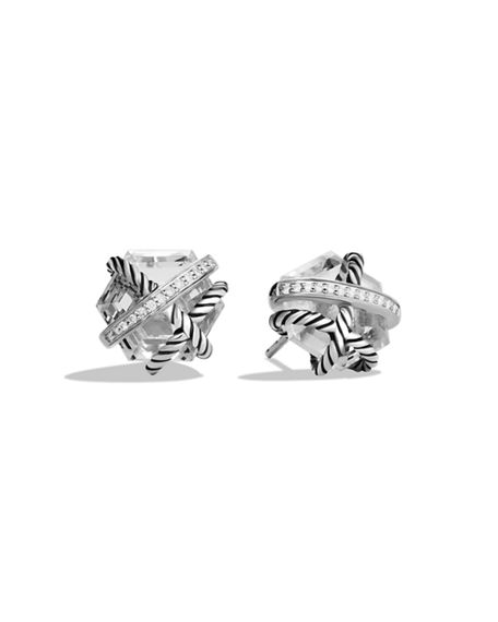 David Yurman Cable Wrap Earrings with Diamonds