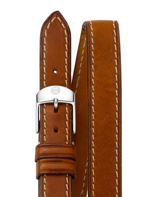 Image 1 of 2: 16mm Double-Wrap Leather Strap