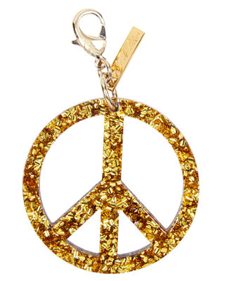 Edie Parker Peace Sign Speckled Bag Charm 124CGBvqY
