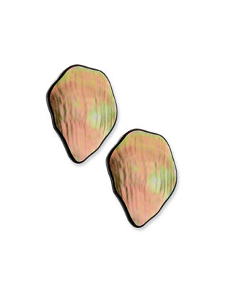Image 1 of 2: Freeform Petal Clip-On Earrings