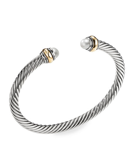 David Yurman 5mm Cable Classics Bracelet with Semiprecious Stone & 18K Gold