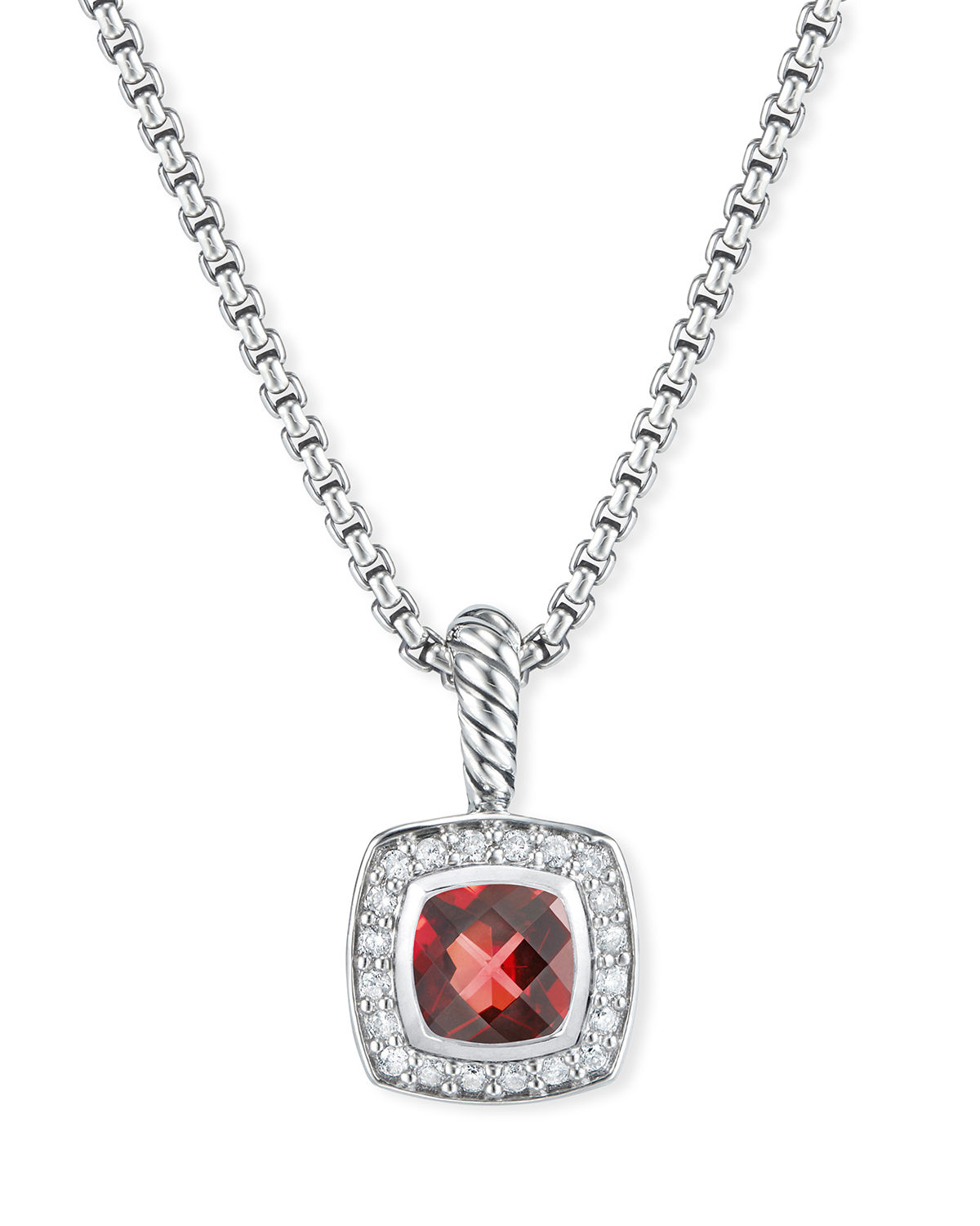 Petite Albion Necklace with Gemstone and Diamonds
