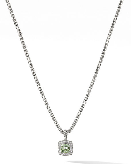 David Yurman Petite Albion Necklace with Gemstone and Diamonds