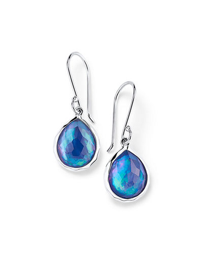 Sterling Silver Teeny Teardrop Earrings in Turquoise