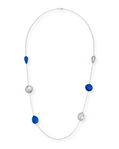 925 Rock Candy Wonderland Large Station Necklace in Midnight, 42