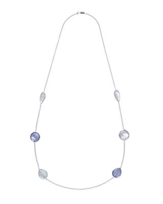 """925 Rock Candy Wonderland Large Station Necklace in Midnight, 42"""""""