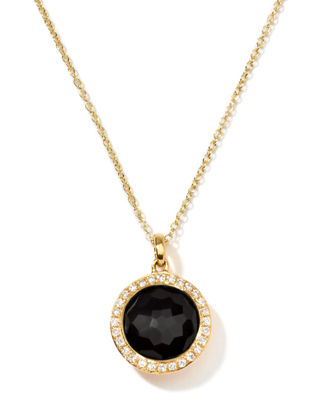 Image 1 of 2: Rock Candy 18k Gold Mini Lollipop Necklace