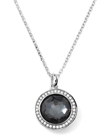 Ippolita Lollipop Diamond Bezel Clear Quartz Pendant Necklace