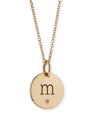 Zoë Chicco Initial Coin Pendant Necklace K691n1